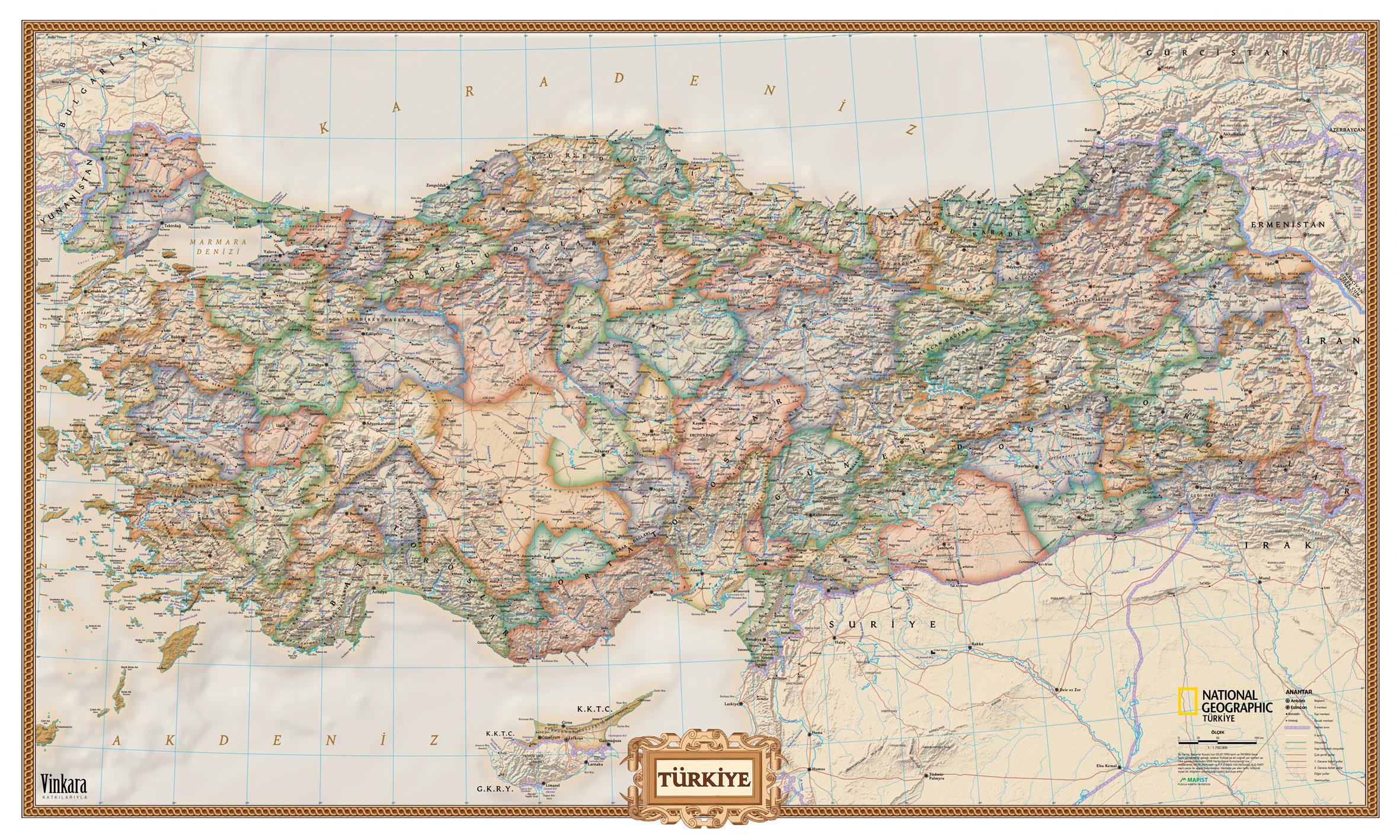 Eski Türkiye Haritası Türkiye Haritası