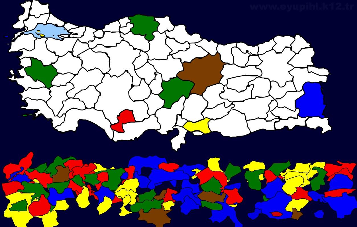 Sehirler Yapboz Oyunu Turkiye Haritasi