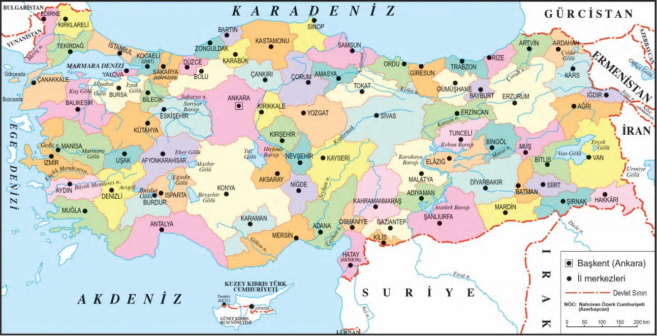 Türkiye Siyasi Haritası Türkiye Haritası
